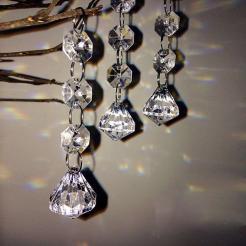 Pcs Christmas Acrylic Crystal Diamond Beads String