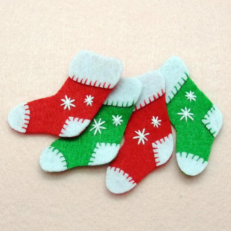 Pcs Handmade Christmas Stockings Felt Silverbreezebag