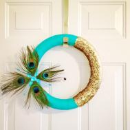 Peacock Feather Diy Holiday Wreath