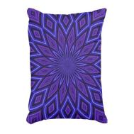 Periwinkle Purple Kaleidoscope Accent Pillow Zazzle