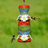 Perky Pet Double Decker Plastic Hummingbird Feeder