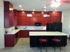 Phoenix Kitchen Remodel Red Cabinets Black Island White