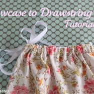 Pillowcase Drawstring Bag Tutorial Sew Delicious