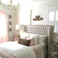Pink Gold Girl Bedroom Makeover Randi Garrett Design