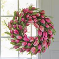 Pink Tulip Wreath Gump