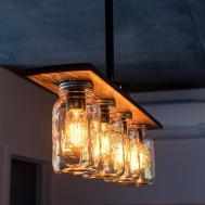 Pipe Mason Jar Chandelier Light Vintage Industrial Antique