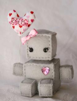 Plush Robot New Year Robots