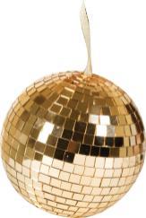 Polo Golf Linea Deco Large Gold Mirror Disco Ball