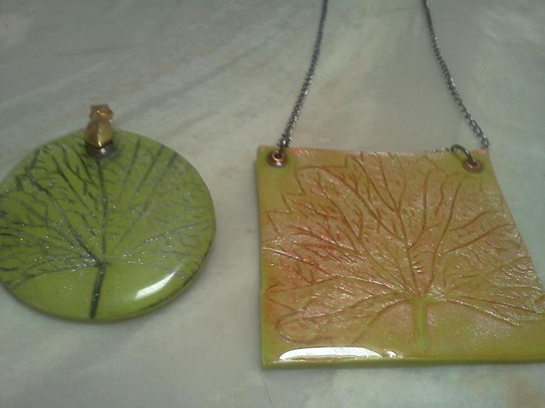 Polymer Clay Pendant Hippiefreak Beads