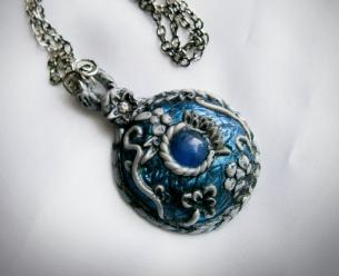 Polymer Clay Tutorial Pendant Necklace Ice Realm