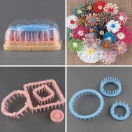 Pompom Daisy Scarf Hat Maker Loom Needle Knitting Tool Diy