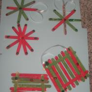 Popsicle Stick Christmas Ornament Crafts