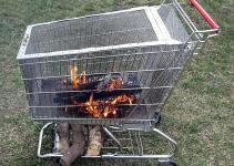 Portable Fire Pit Built Log Storage Rack Steps