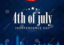 Poster Banner Flyer 4th July Celebration Stock