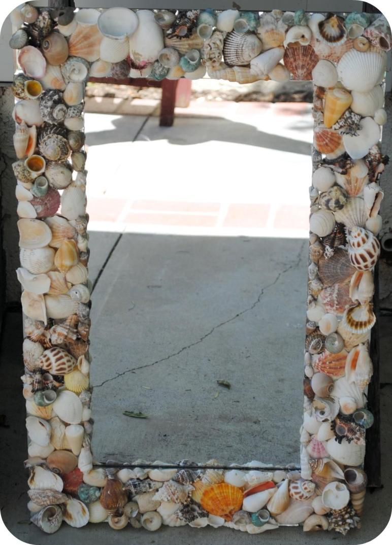 Pottery Barn Inspired Sea Shell Mirror Tutorial