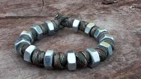 Prayer Bead Hex Nut Paracord Bracelet Music Version