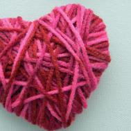 Preschool Crafts Kids Valentine Day Yarn Heart Craft