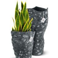 Present Honeycomb Vase Ceramic Grey