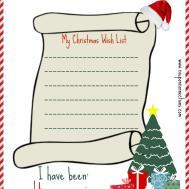 Printable Christmas Wish List Coupon Connections