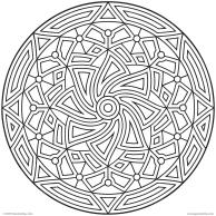 Printable Cool Geometric Design Coloring Pages 7769