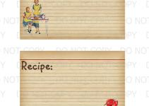 Printable Diy Retro Housewife Recipe Cards