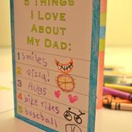 Printable Father Day Card Kids