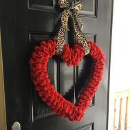 Project Valentine Burlap Heart Wreath Diy