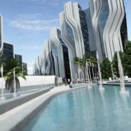 Proposed Stone Towers Egypt Zaha Hadid