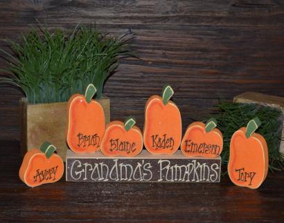 Pumpkin Thanksgiving Decor Personalized Pumpkins