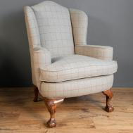 Quality Walnut Framed 1930s Wing Chair Antiques Atlas