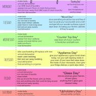 Quirky Weekly Cleaning Chart Printable First