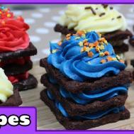 Rainbow Brownie Brittle Birthday Cake Icebox Cupcakes