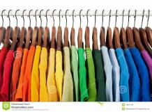 Rainbow Colors Clothes Wooden Hangers Royalty