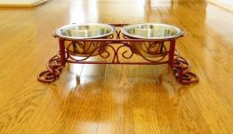 Raised Dog Dish Stand Choose Your Color