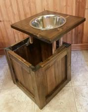Raised Dog Feeder Storage Bowl Pet
