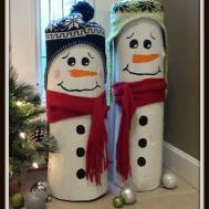 Reader Holiday Diy Idea Log Snowmen Hip2save