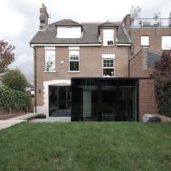 Rear Modern Mansion Extension Garden Design Lbmv
