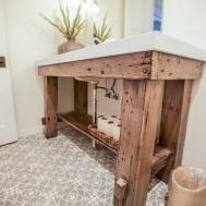 Reclaimed Wood Bathroom Sink Porter Barn