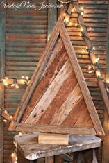 Reclaimed Wood Christmas Tree Old Slats