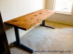Reclaimed Wood Desk Diy