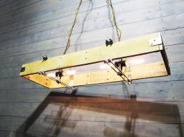 Rectangular Wood Chandelier Made Recycled Pallet