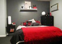Red Black Grey Bedroom Ideas