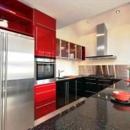 Red Black White Kitchen Deductour
