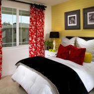 Red Black Yellow Bedroom Decor Modern Teen Echelon