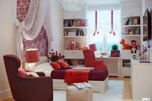 Red White Bedroom Decor Interior Design Ideas