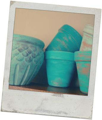 Reduce Reuse Renewed Painting Terra Cotta Pots