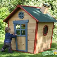 Redwood Lodge Wooden Playhouse Kids Painted Garden Wendy