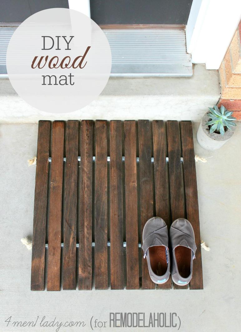 Remodelaholic Diy Wood Stake Door Mat