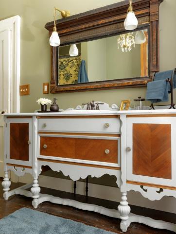 Repurpose Dresser Into Bathroom Vanity Tos Diy