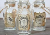 Repurposed Vintage Bottle Rustic French